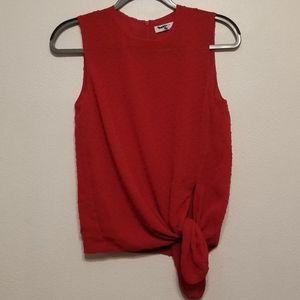 Babaton (Aritzia) Hopkins red applique dot blouse